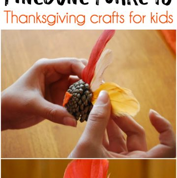 Pinecone Turkeys - Thanksgiving craft ideas for kids