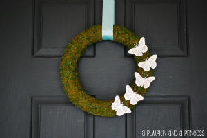 Moss Butterfly Wreath