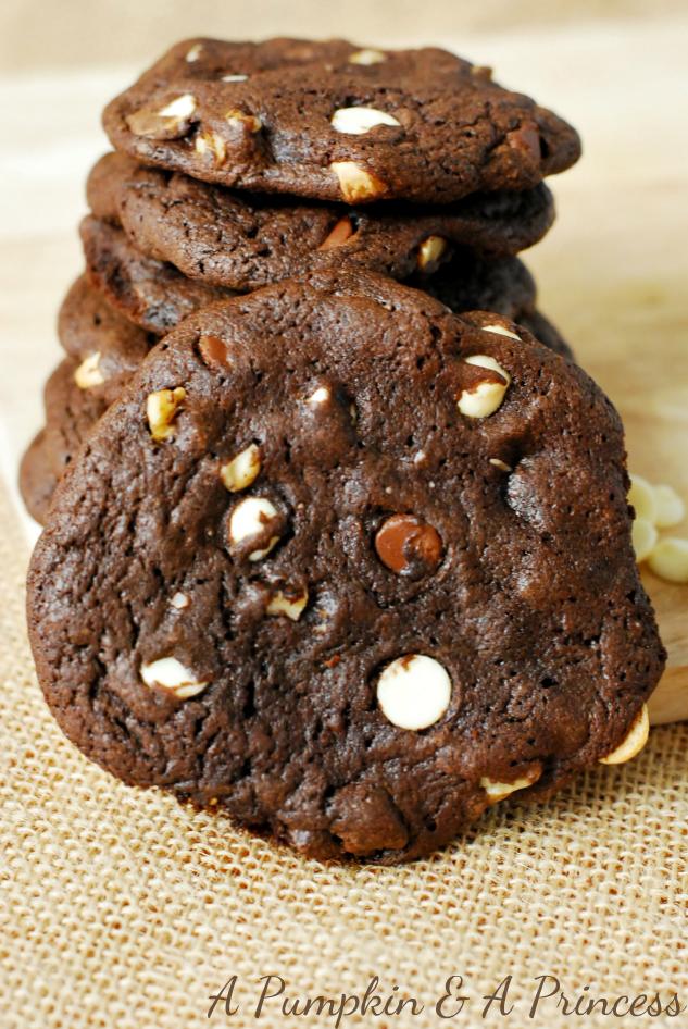 Three chocolate cookies recipe