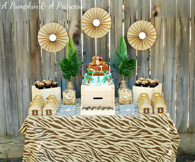 DIY Safari Birthday Party Decor
