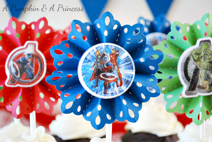 The Avengers Cupcake Toppers