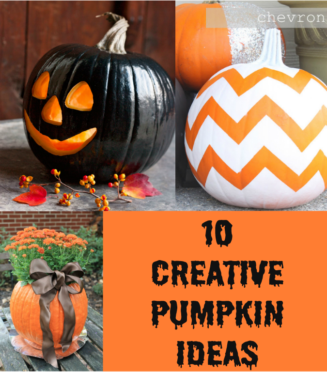 Creative pumpkin ideas Unique pumpkin decorating ideas