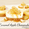 Mini Caramel Apple Cheesecakes