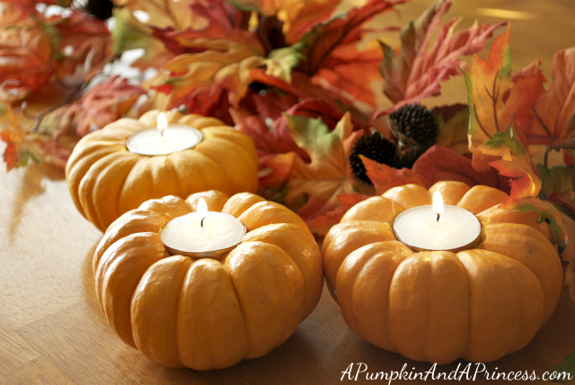 Carved Pumpkin Tea Lights