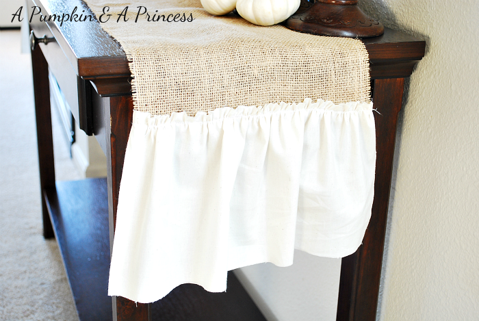#Burlap Table Runner