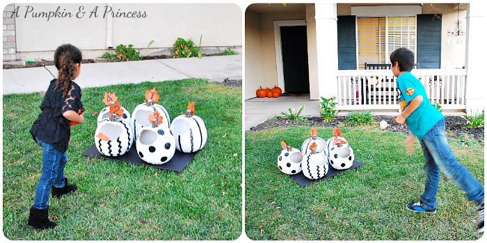 Pumpkin Bean Bag Toss Game