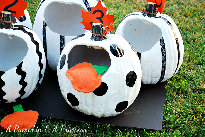 Pleasant Pumpkin Toss Game Onthecornerstone Fun Painted Chair Ideas Images Onthecornerstoneorg