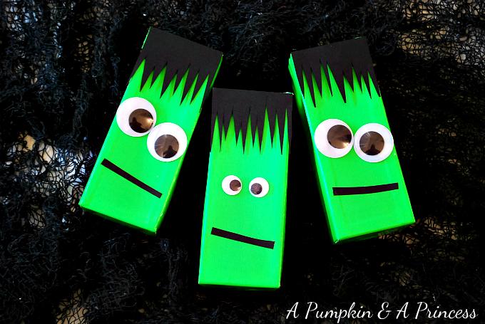 Frankenstein Juice Boxes
