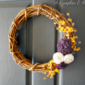 Purple & Mustard Yellow Fall Wreath