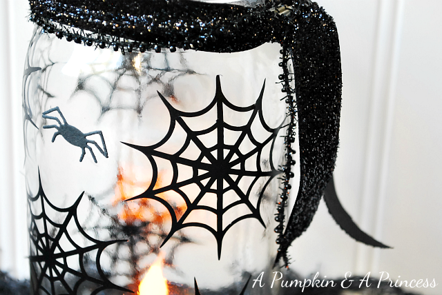 Spiderweb Mason Jars