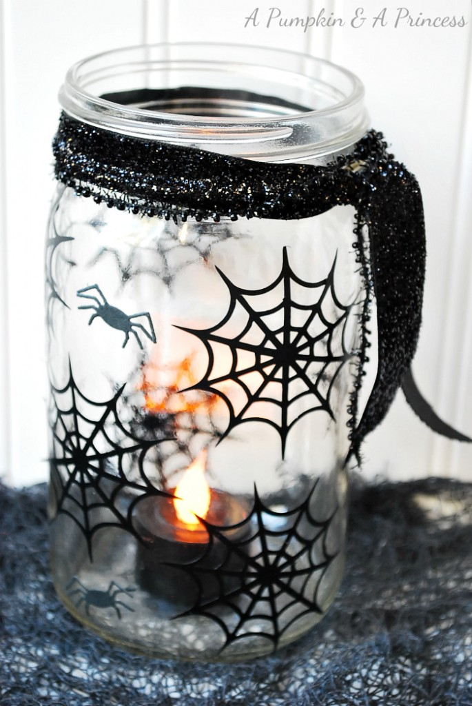 Creative reader projects no 174 halloween crafts decor for Mason jar candle crafts