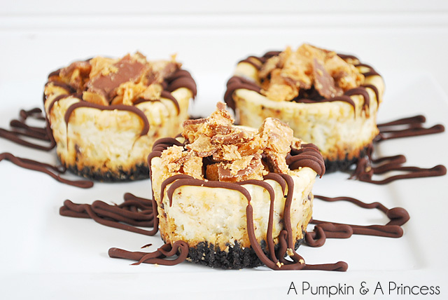 Mini Butterfinger Cheesecakes Recipe