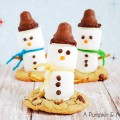 Marshmallow Snowman and Mini Butterfinger Cheesecakes
