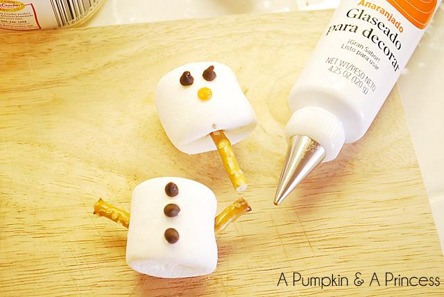 Marshmallow Snowman Tutorial