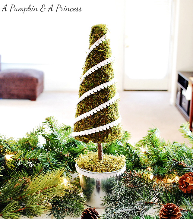 DIY Moss Christmas Tree