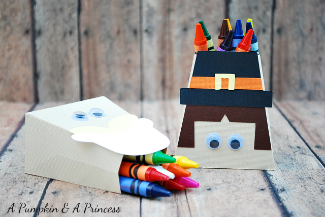Thanksgiving Ideas For Kids - Pilgrim Treat Boxes