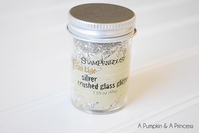 german glass glitter ornament