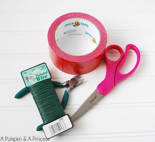 Easy DIY Duct Tape Poinsettia Flower Tutorial