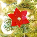 Duct Tape Poinsettias Flower