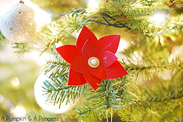 Duct Tape Poinsettias Flowers