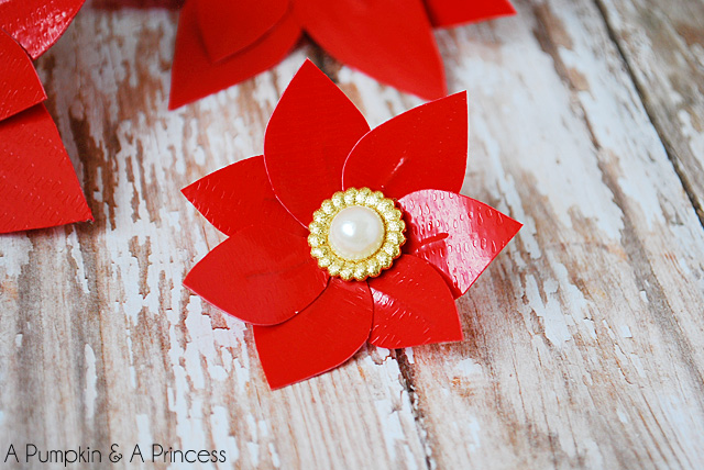 Easy DIY Duct Tape Poinsettia Flower Tutorial