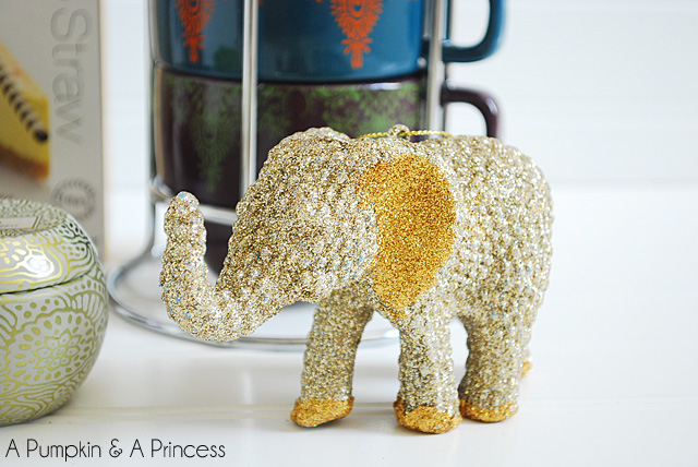 Glitter Elephant Ornament