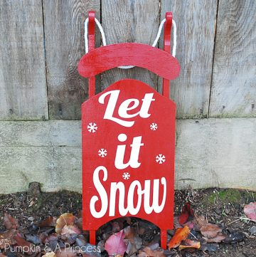 DIY Red Wooden Sled