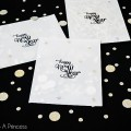 New Year's Vellum Confetti Envelopes