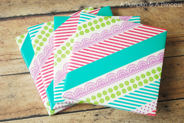 DIY Washi Tape Coasters Tutorial