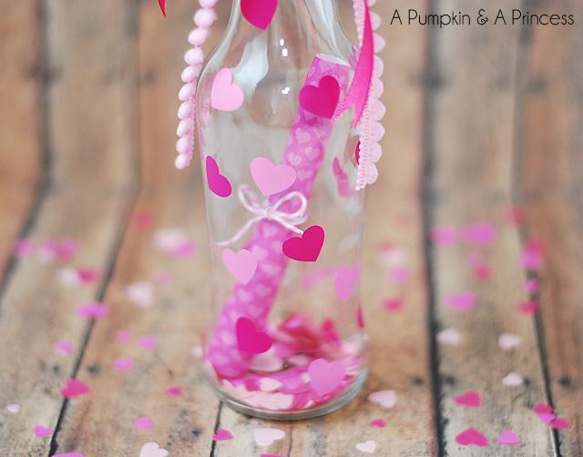 message in a bottle valentine - a pumpkin and a princess, Ideas
