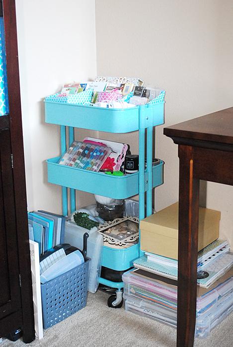 Ikea Kitchen Cart for craft supplies