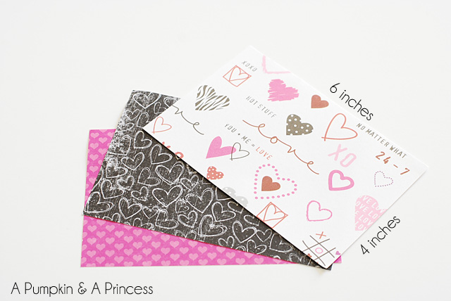 Paper Valentine Treat Containers