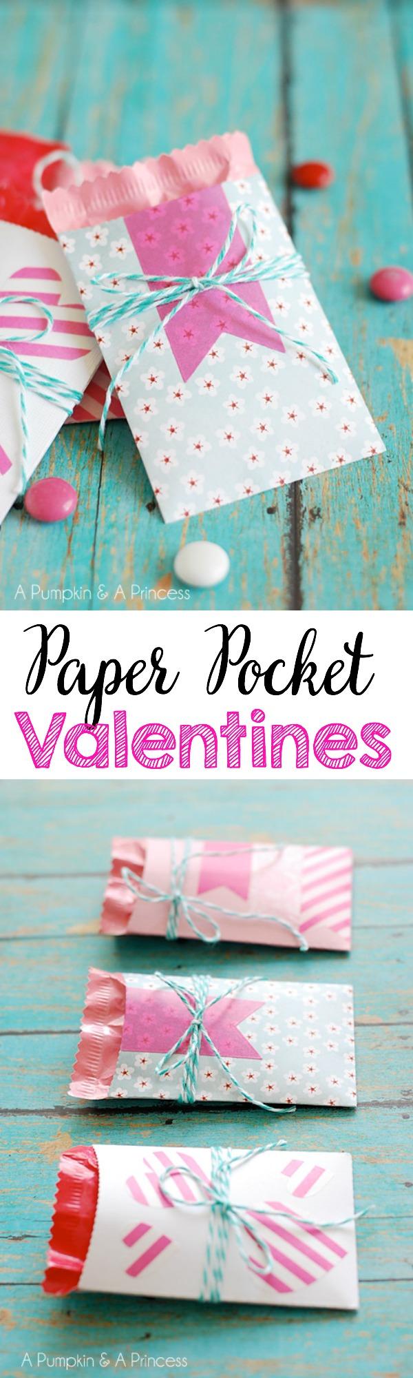 paper pocket valentines