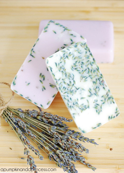 Homemade Lavender Soap