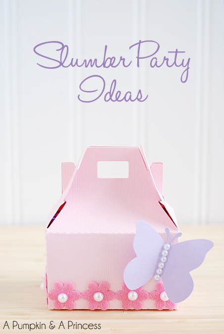 Slumber party favor boxes