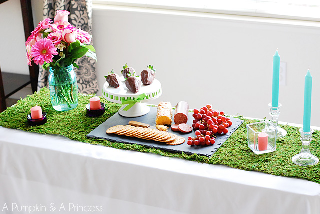 Spring tablescape for two