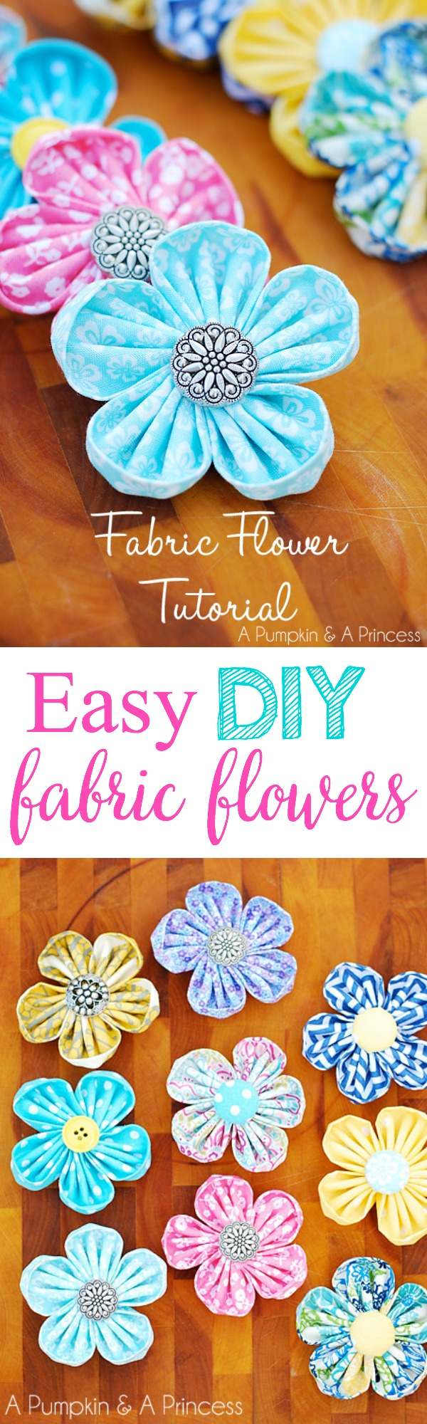 How to make fabric flowers with a flower maker tool