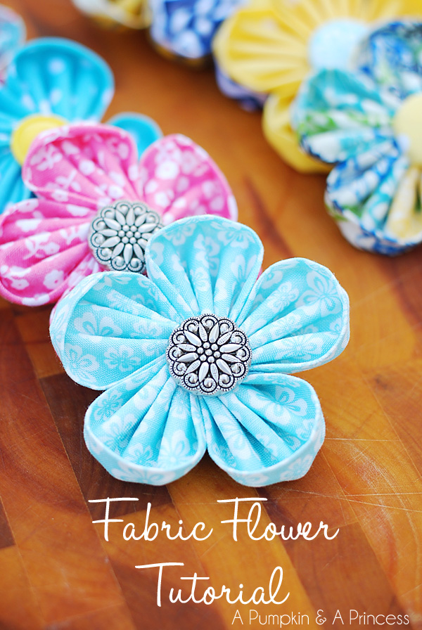 Diy Tutorial Fabric Flowers Flower Perfect For Headbands Clips Or A Brooch Beadcord