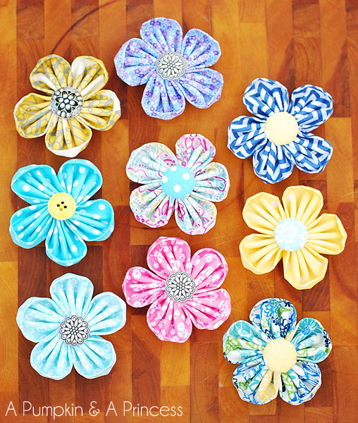 diy kanzashi flowers