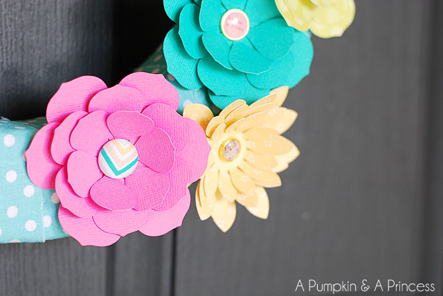 Spring paper flower wreath a pumpkin and a princess dear lizzy 5th and frolic mightylinksfo