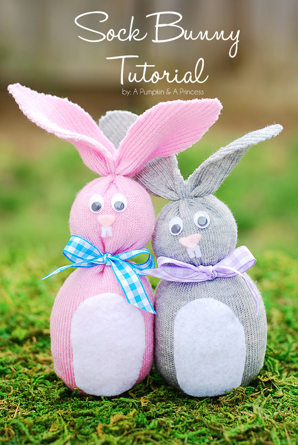 Sock Bunny Easter Crafts For Kids A Pumpkin And A Princess