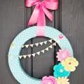 Spring Paper Flower Wreath {Dear Lizzy 5th & Frolic}