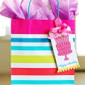 Embossed Happy Birthday Gift Tag