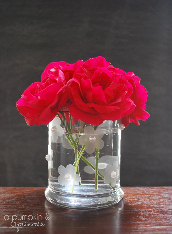 How to make a faux etched vase.