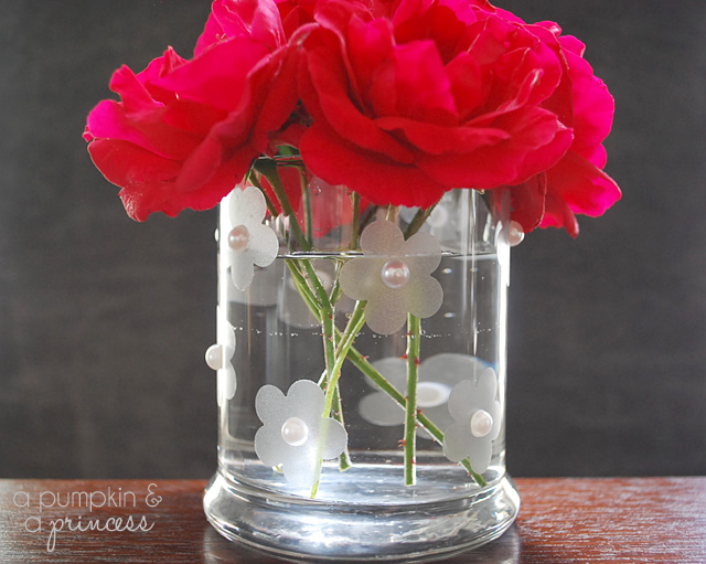 how to make a faux etched vase