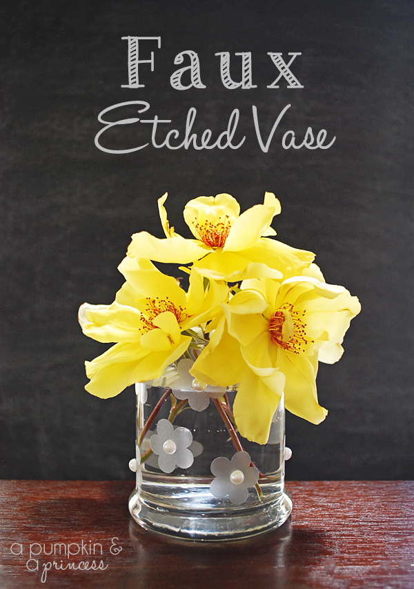 how to make a faux etched flower vase.