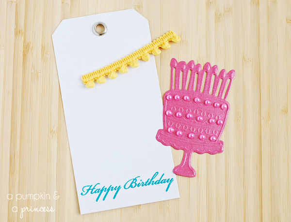 how to make embossed Happy Birthday gift tags