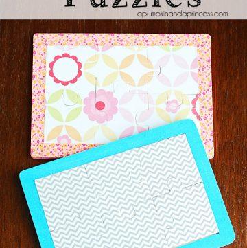 Washi tape puzzles