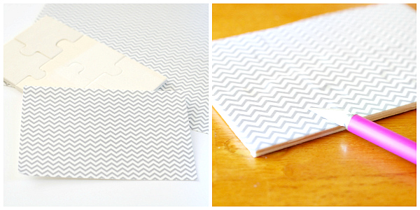 how to make a washi tape puzzle