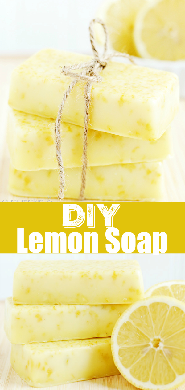 DIY Lemon Soap - easy melt and pour soap tutorial made with lemon essential oils